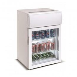 Réfrigérateur porte vitrée blanc 75L