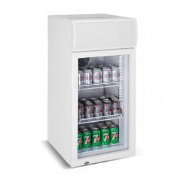 Réfrigérateur porte vitrée blanc 80L