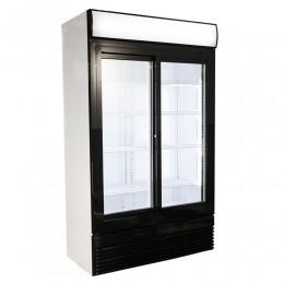 Réfrigérateur deux portes vitrées coulissantes 750L