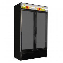 Réfrigérateur deux portes vitrées all-black 750L