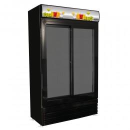 Réfrigérateur deux portes vitrées coulissantes all-black 780L