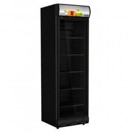 Réfrigérateur porte vitrée all-black 382L