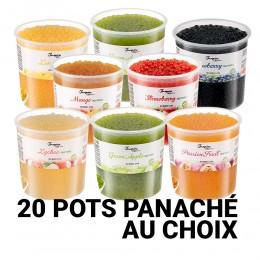 Kit 20 pots de perles de fruits panaché au choix