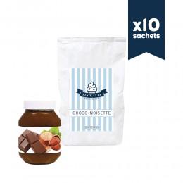 Produit à glace choco-noisette (façon pâte à tartiner) Sinigalia x 10 sachets