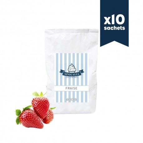 Produit à glace fraise Sinigalia x 10 sachets