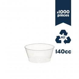 """Pots à glace PET """"Kristal"""" 140cc 1000pcs"""