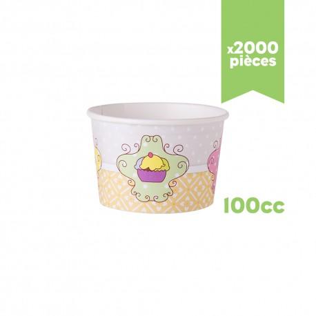 """Pots à glace """"Très Chic"""" 100cc x250"""