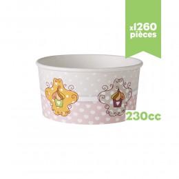 """Pots à glace """"Très Chic"""" 230cc x180"""