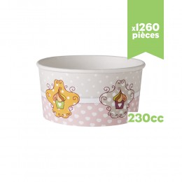 """Pots à glace """"Très Chic"""" 230cc x1260"""