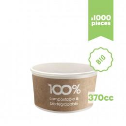 """Pots à glace en carton bio compostable """"Havana"""" 370cc 1000pcs"""