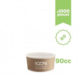 """Pots à glace en carton bio compostable """"Havana"""" 90cc 1000pcs"""