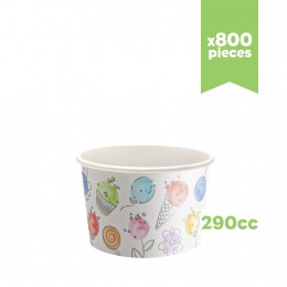 """Pots à glace en carton """"Balloons"""" 290cc 800pcs"""