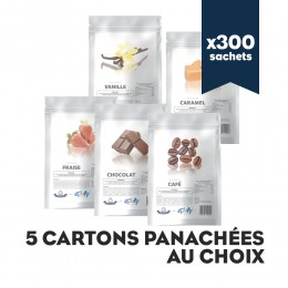Pack 5 cartons de mix pour frappé panachés au choix