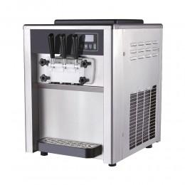 Machine à glace soft professionnelle de comptoir - glaces à l'italienne - deux parfums + mix - 18L/h
