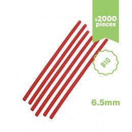 Pailles rouges écologiques & biodégradables 6.5x210mm 2000 pcs