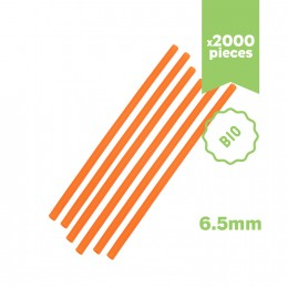 Pailles oranges écologiques & biodégradables 6.5x210mm 2000 pcs